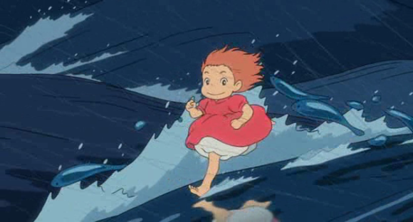 Ponyo, the little girl with a round tummy